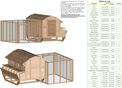 Get chicken coop plans and material list yard hen plan for House plans with material list